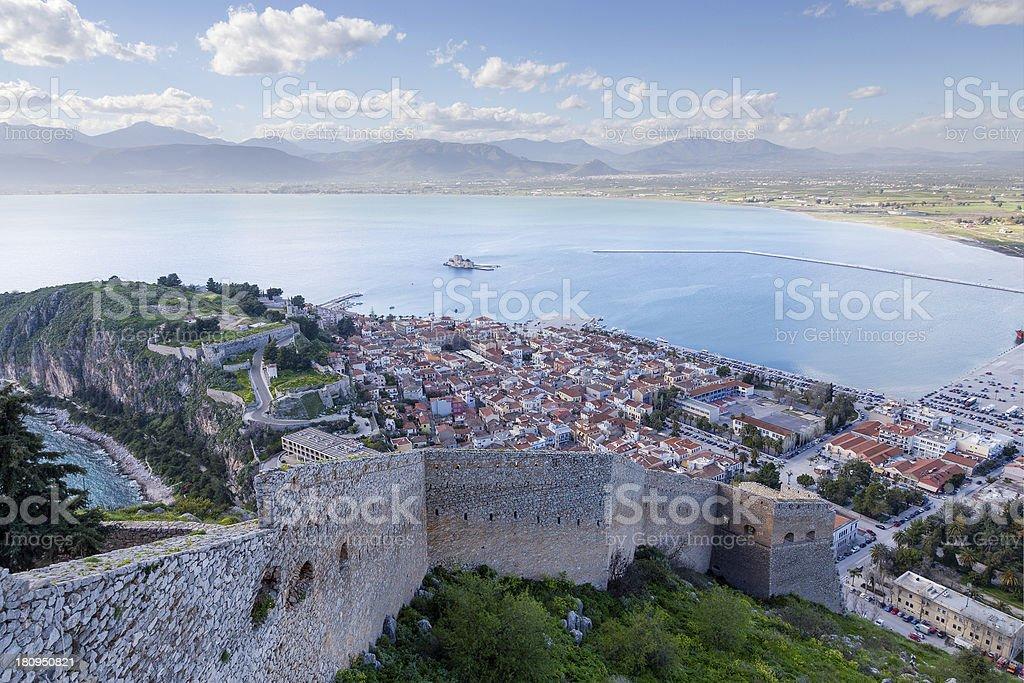 Nafplio view, Peloponnese, Greece stock photo