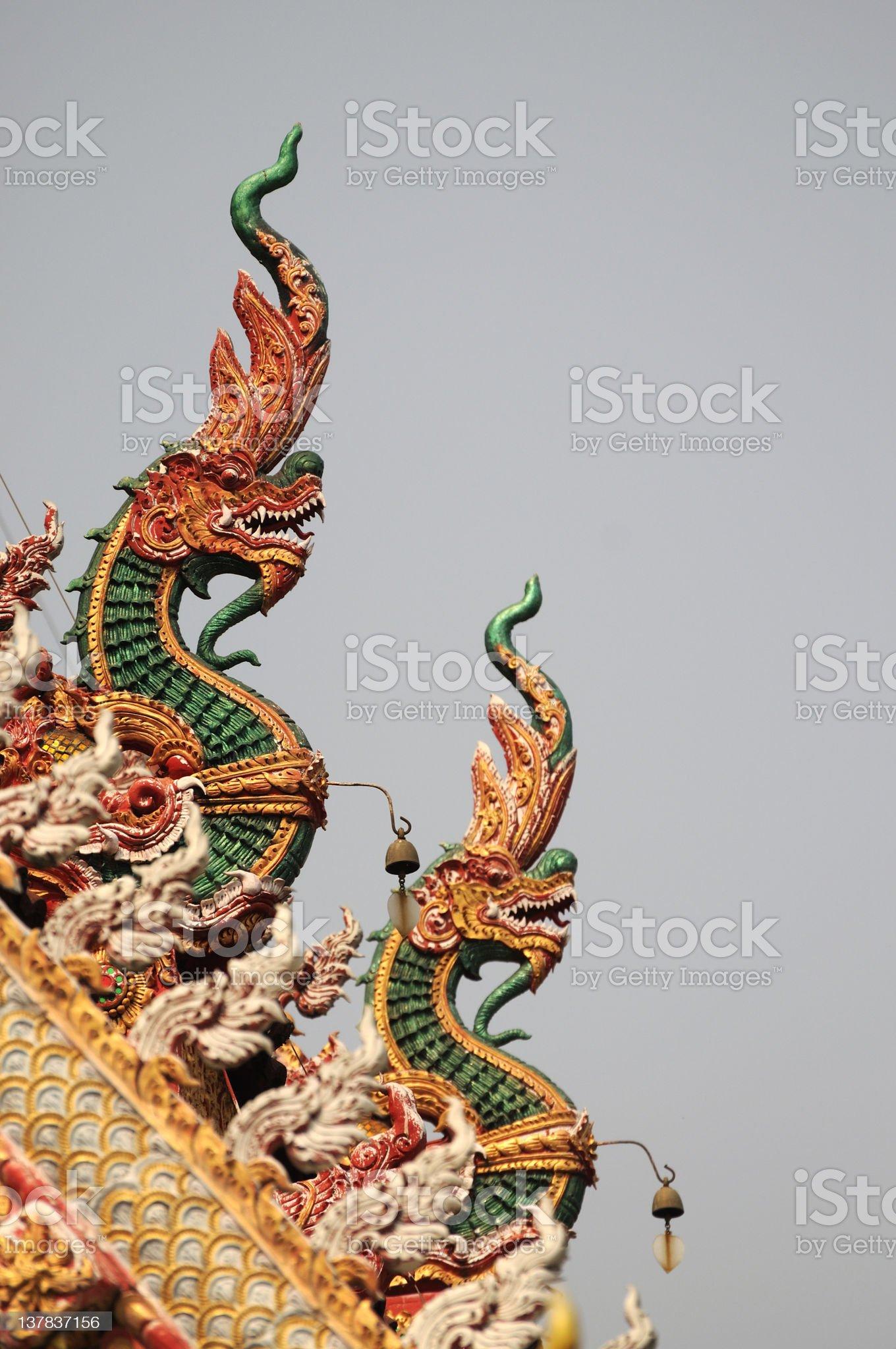 Naga (Thai dragon) royalty-free stock photo