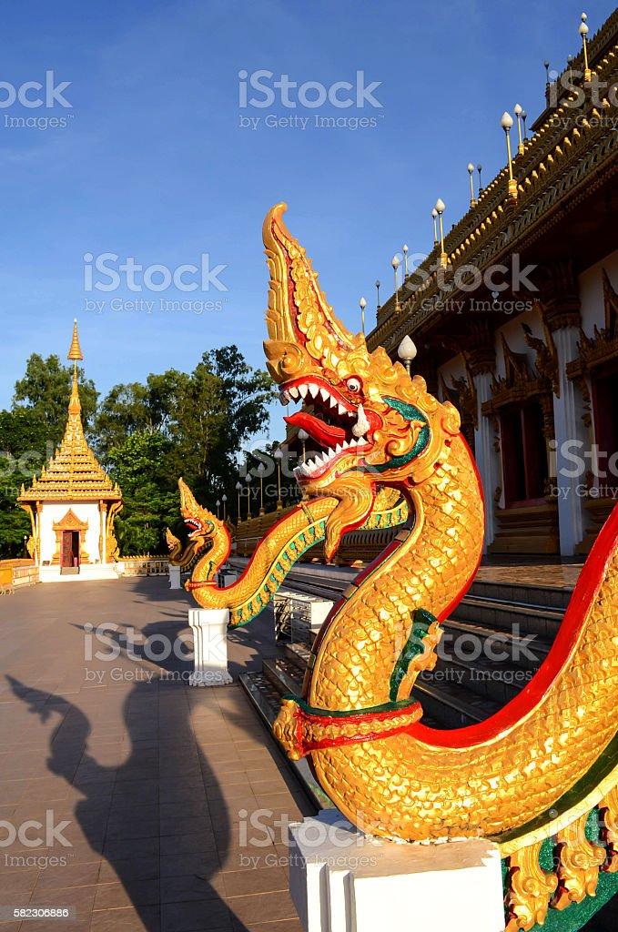 Naga statues stock photo