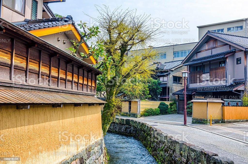 Nagamachi samura idistrict - Kanazawa , Japan royalty-free stock photo