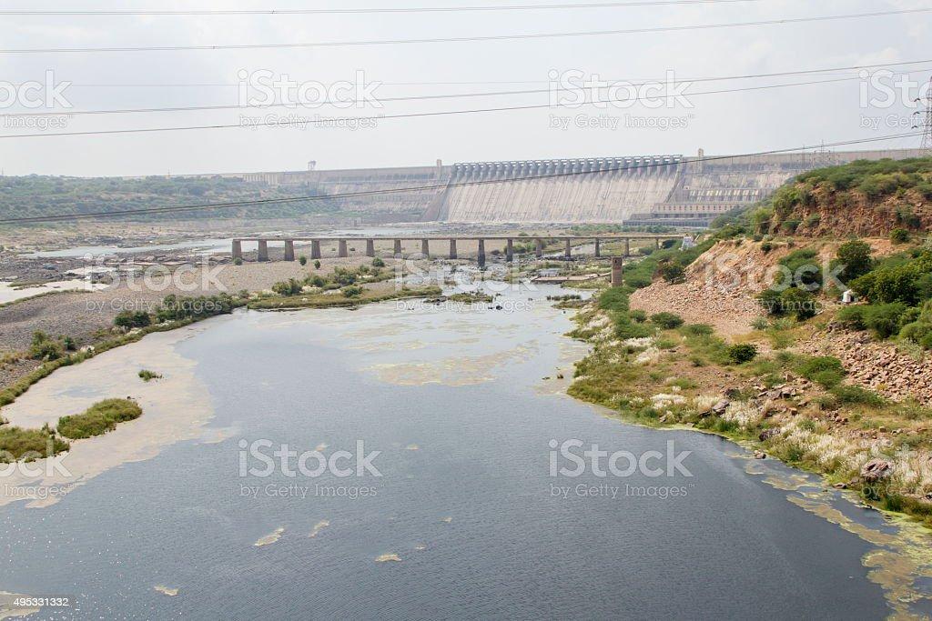 Nagarjuna Sagar Dam, Telangana, India stock photo