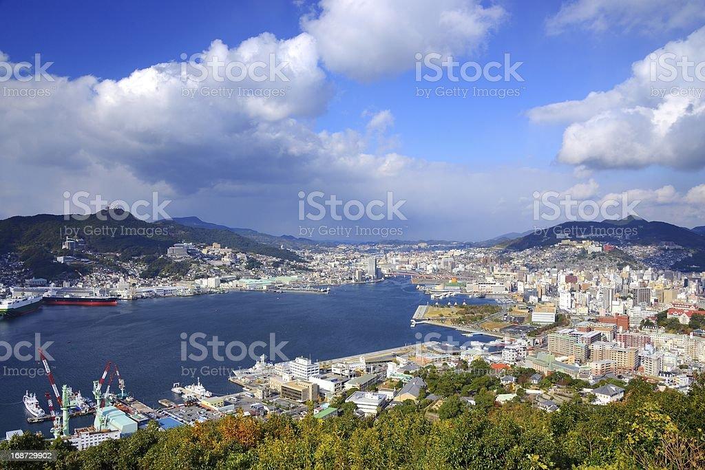 Nagasaki Bay stock photo