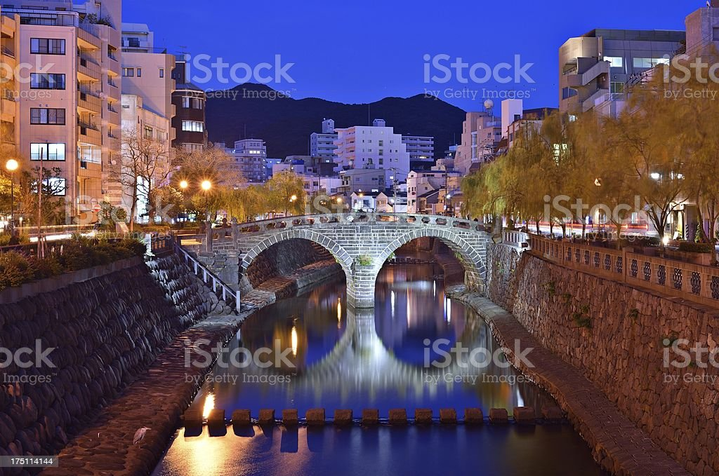 Nagasaki Cityscape stock photo