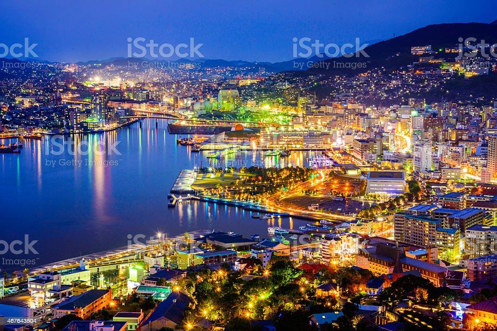 Nagasaki Japan cityscape stock photo