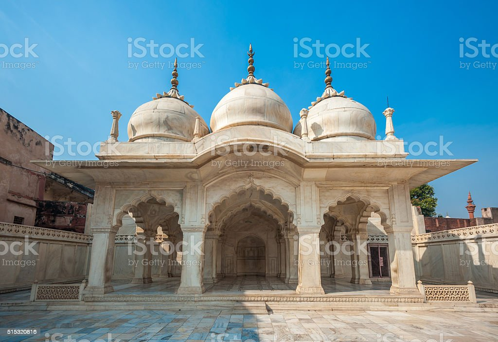 Nagina Mosque in Agra Fort, Uttar Pradesh, India stock photo