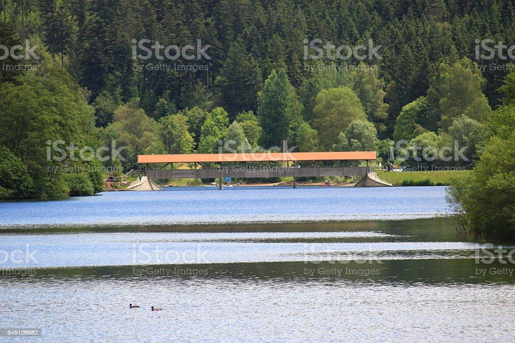 Nagold Stausee im Schwarzwald stock photo