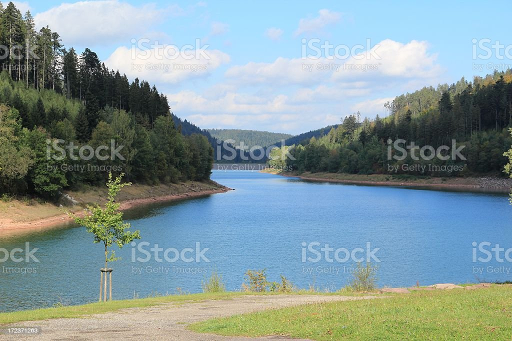 Nagoldtalsperre in Germany royalty-free stock photo