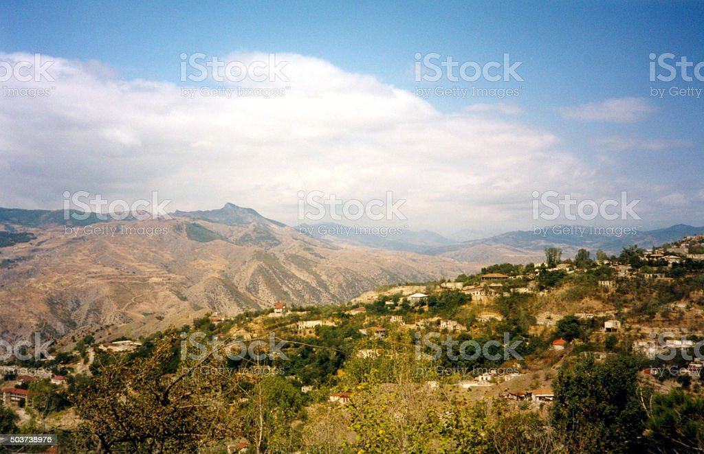 Nagorno-Karabakh mountains from Lachin stock photo