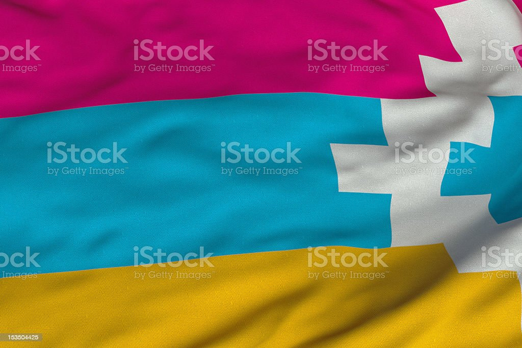 Nagorno-Karabakhi Flag vector art illustration