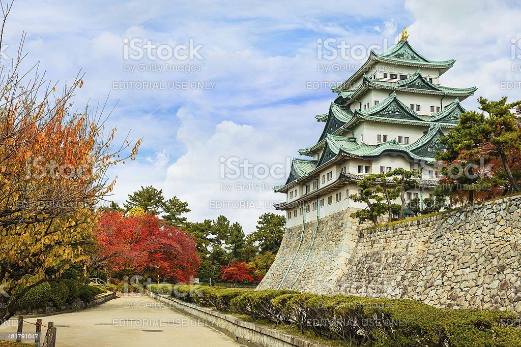 Nagoya castle in Autumn stock photo