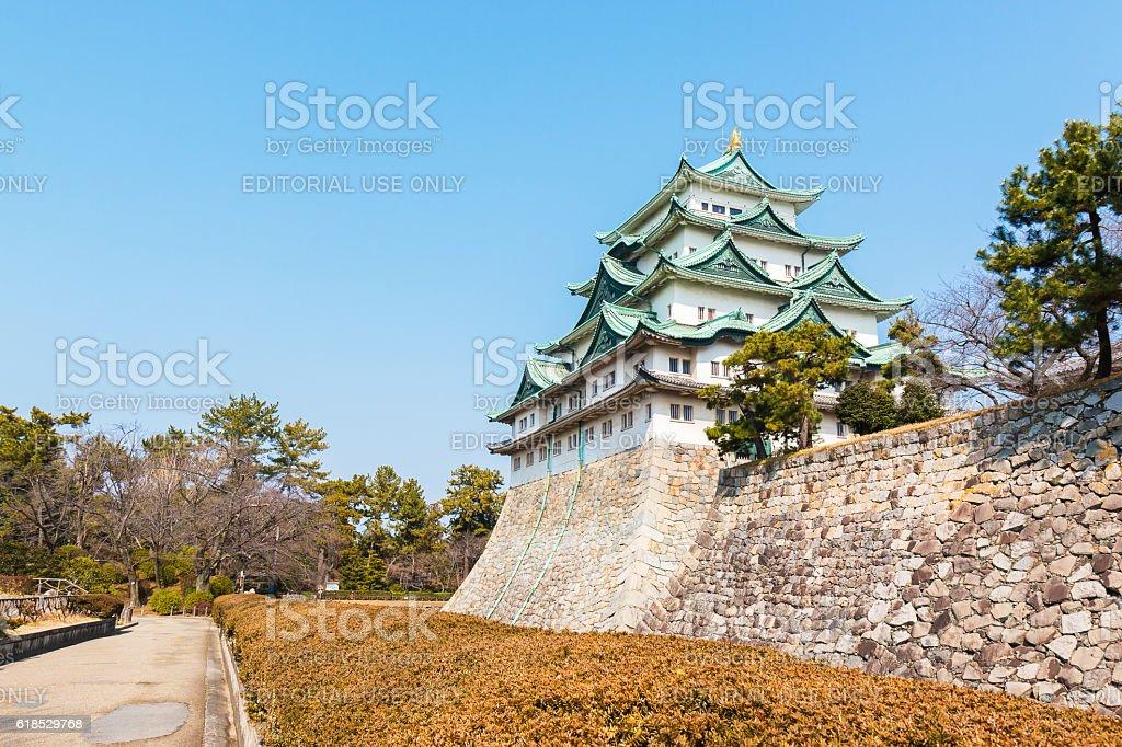 Nagoya castle landmark in nagoya japan. stock photo