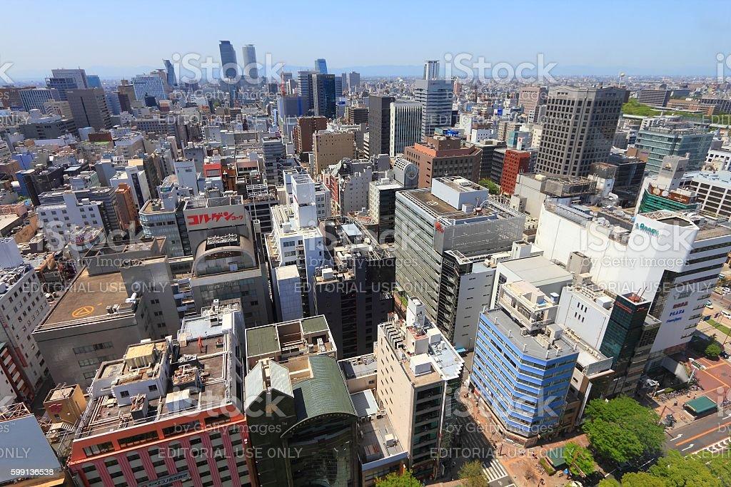 Nagoya city stock photo