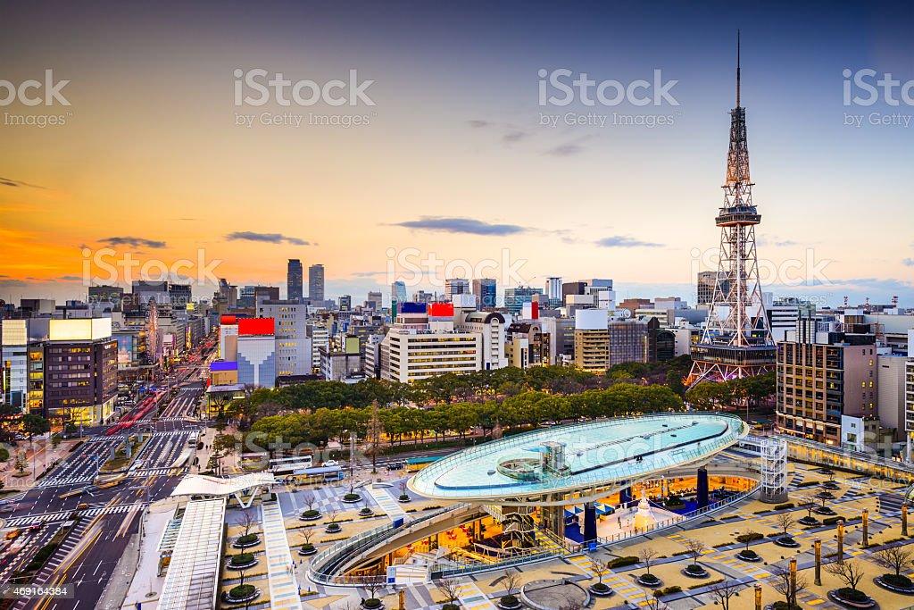 Nagoya, Japan City Skyline stock photo