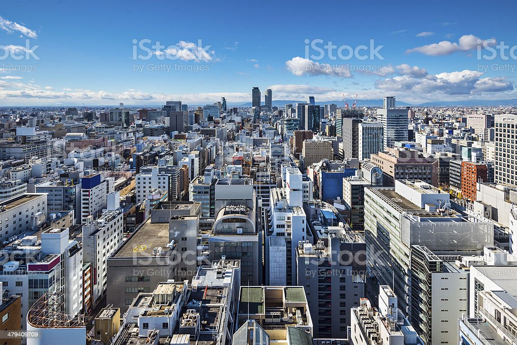 Nagoya, Japan Cityscape stock photo