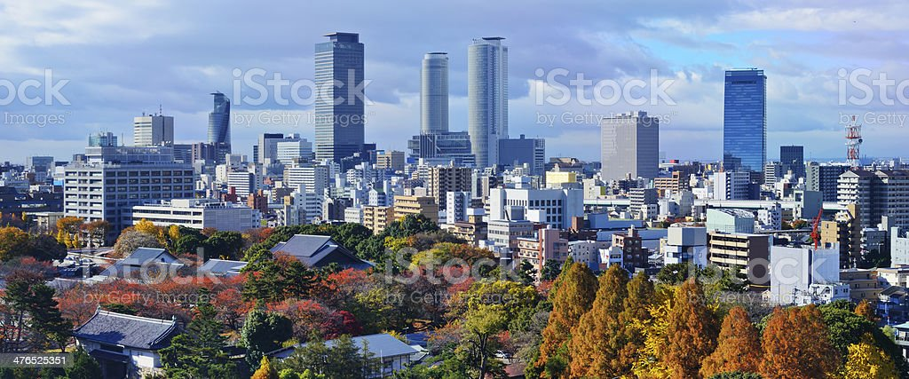 Nagoya Japan Skyline stock photo