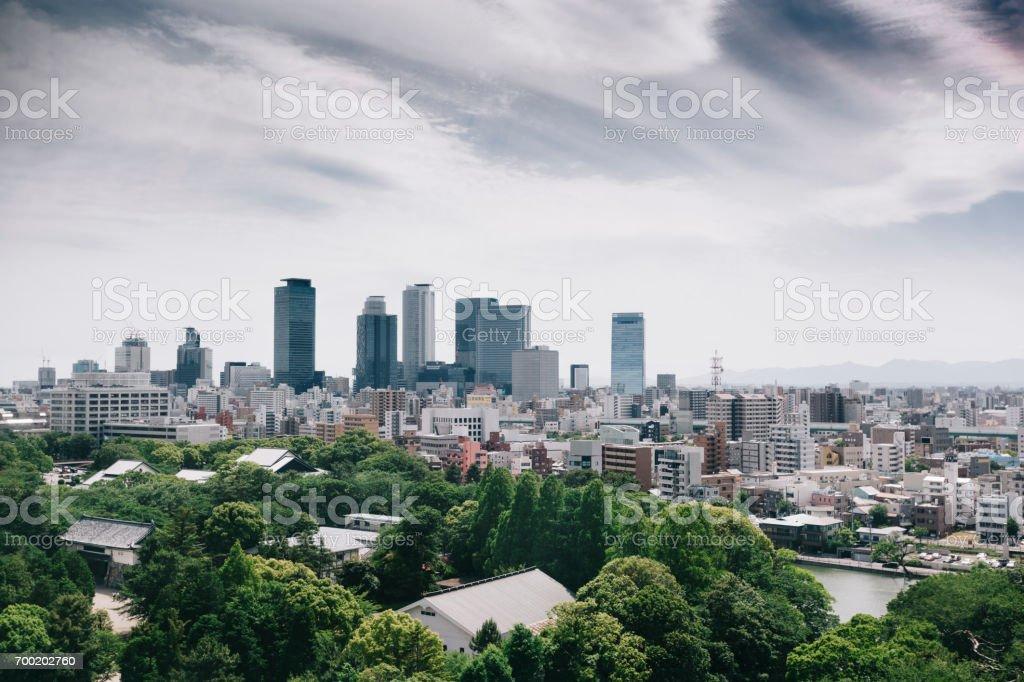 Nagoya Skyline, Japan stock photo