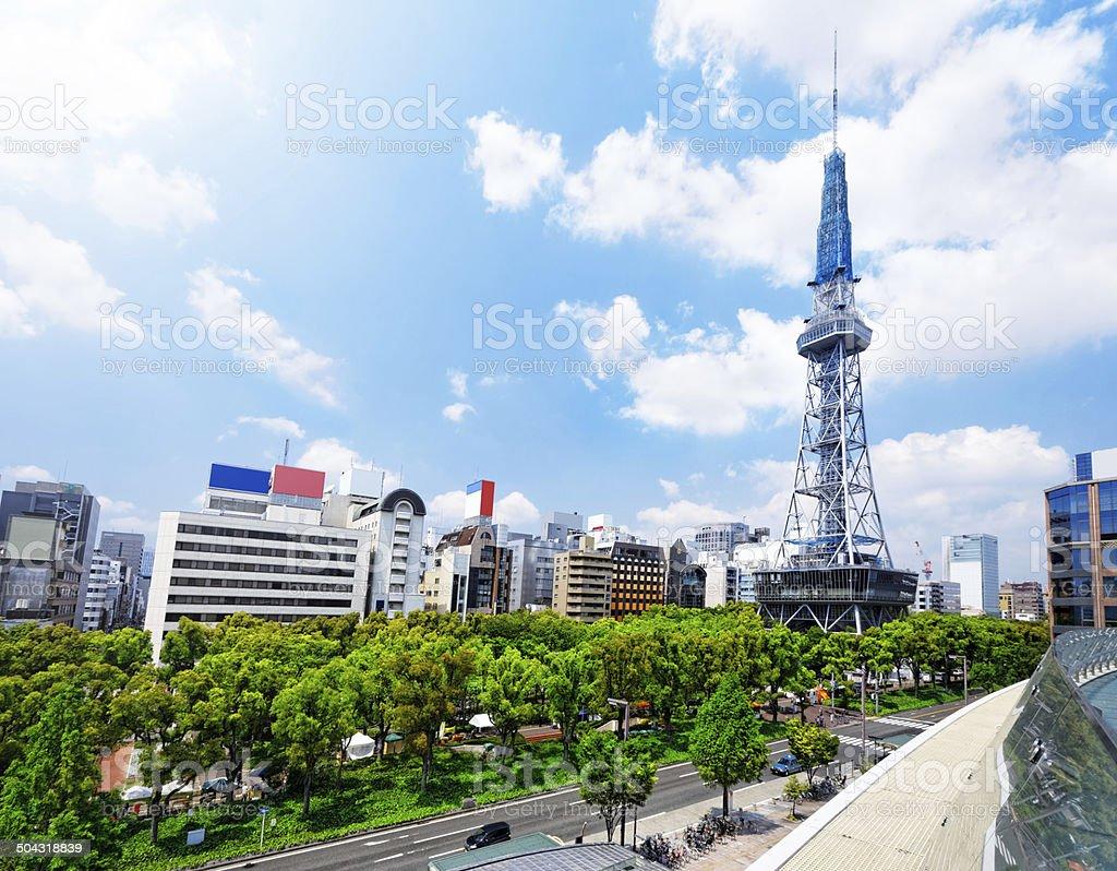 Nagoya Television Tower stock photo