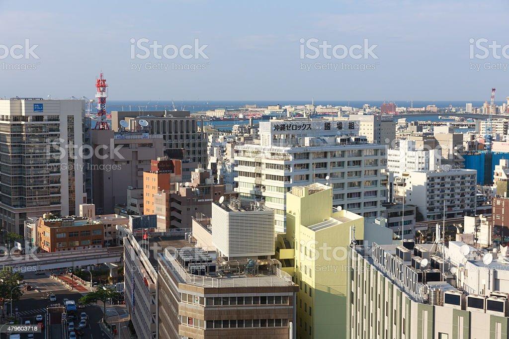 Naha Cityscape in Okinawa, Japan stock photo