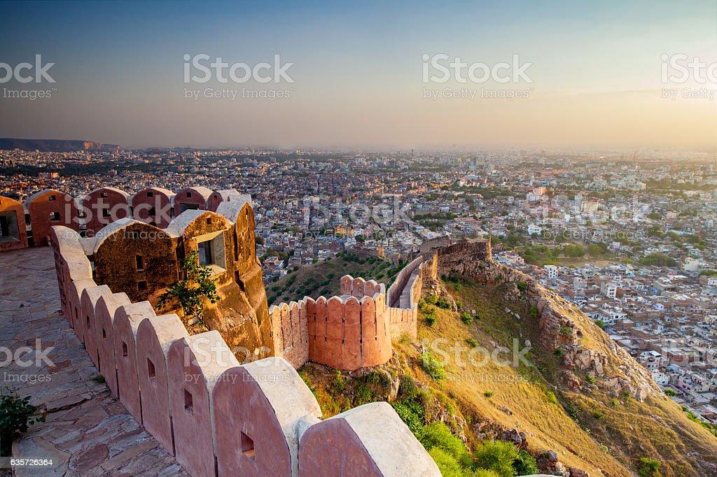 Nahargarh Fort stock photo