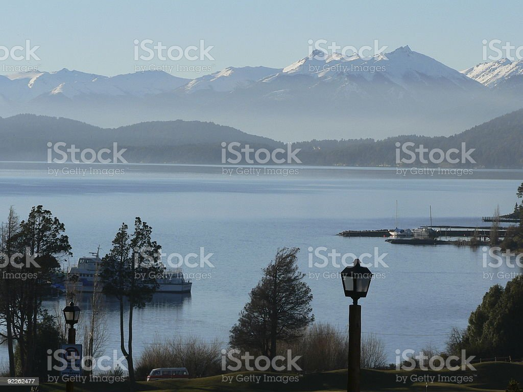 Nahual Huapi Lake Patagonia royalty-free stock photo