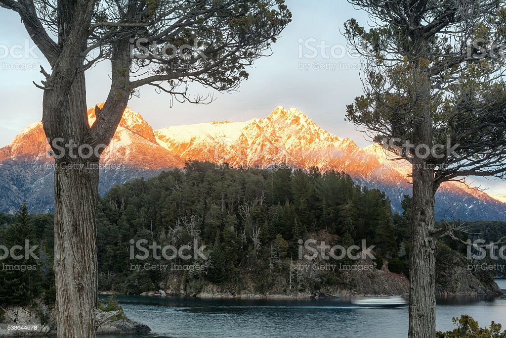 Nahuel Huapi Lake, Bariloche, Patagonia Argentina stock photo