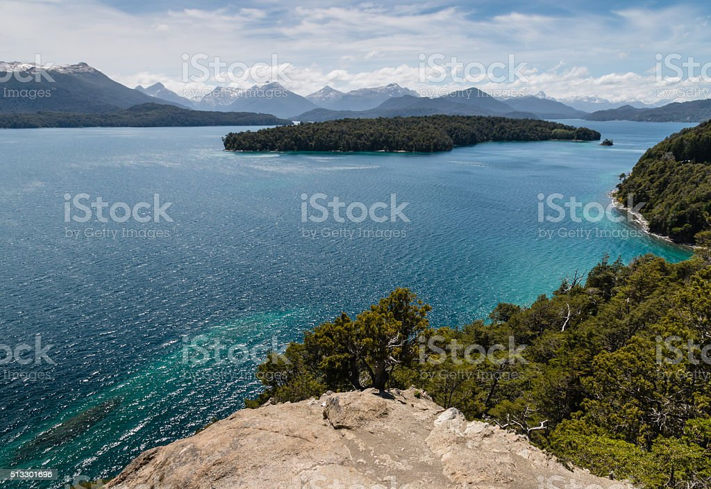 Nahuel Huapi lake in Patagonia stock photo