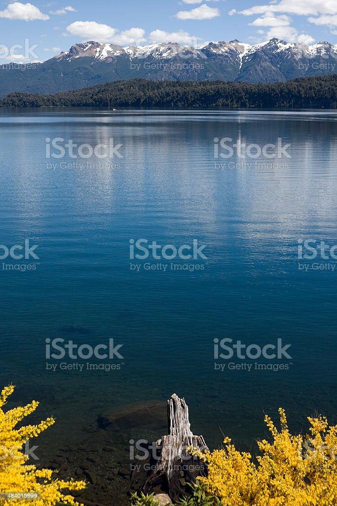 Nahuel Huapi Lake in 'Villa La Angostura' royalty-free stock photo