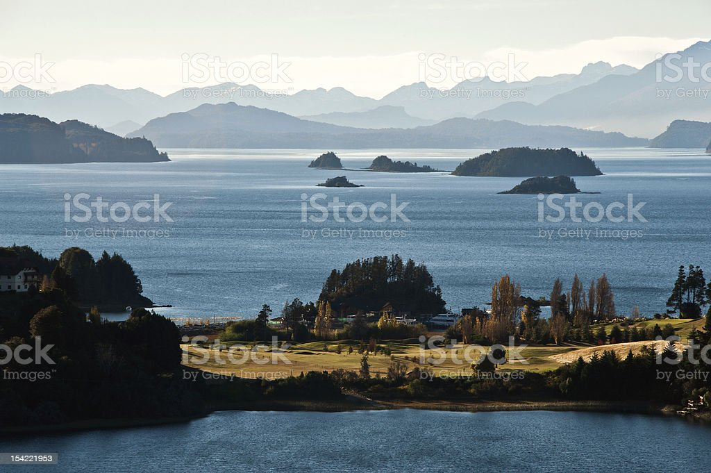 Nahuel Huapi lake, Patagonia Argentina, from Panoramic Point near Bariloche royalty-free stock photo
