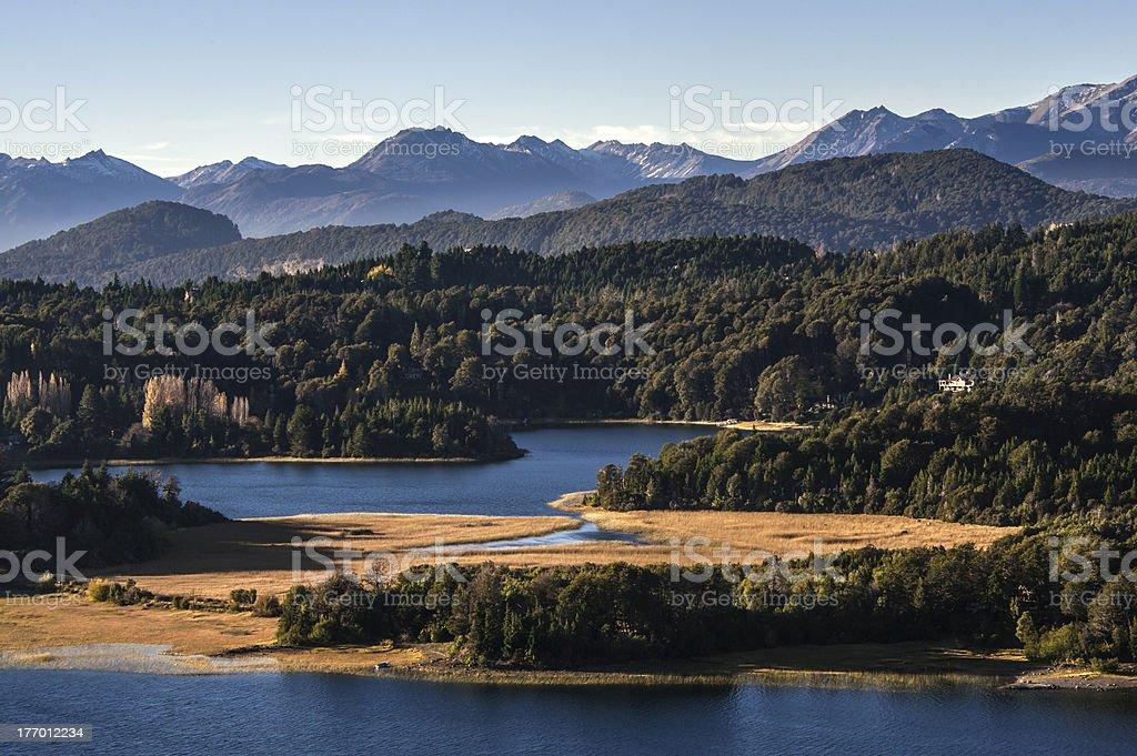 Nahuel Huapi lake, Patagonia Argentina, from Panoramic Point near Bariloche stock photo