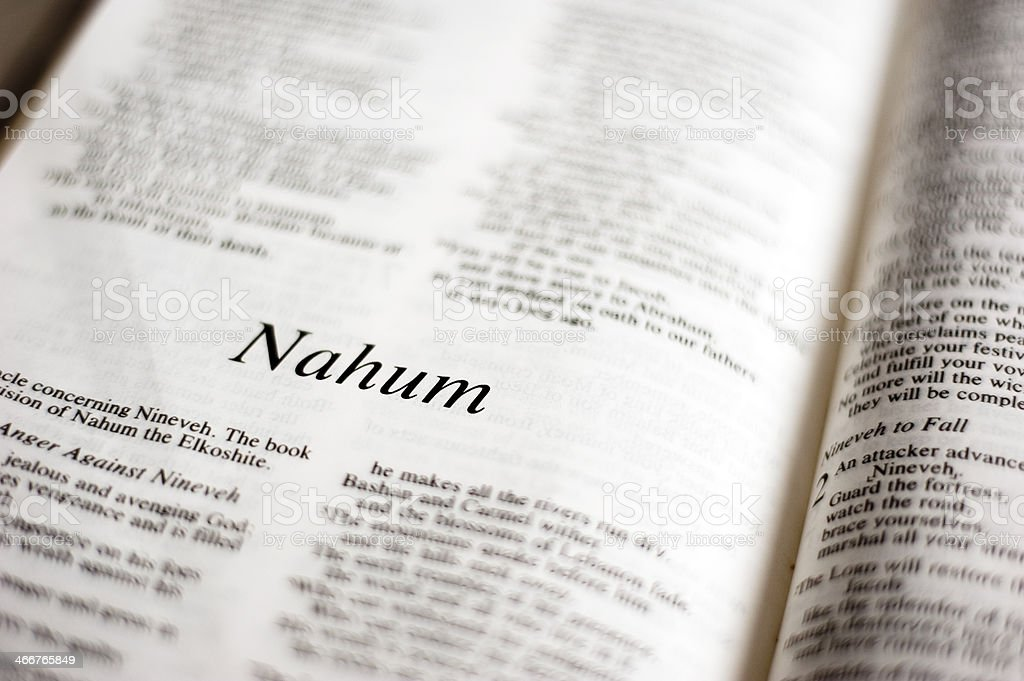 Nahum stock photo