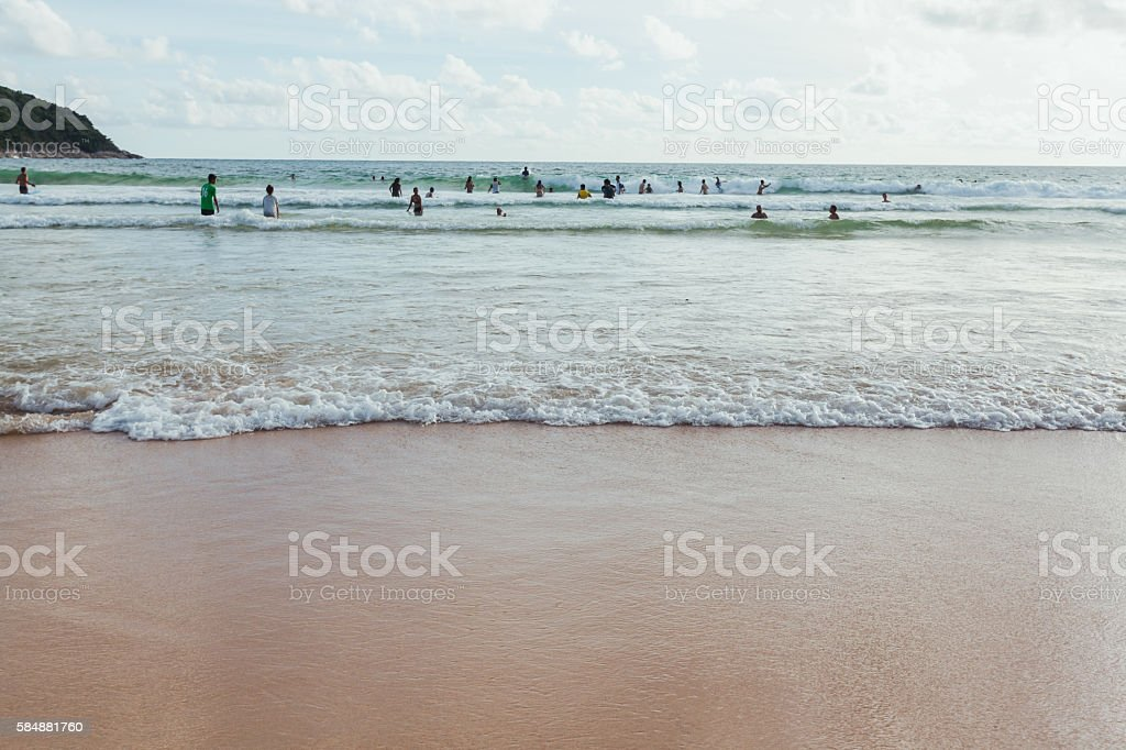 Nai Harn beach  ,Phuket stock photo