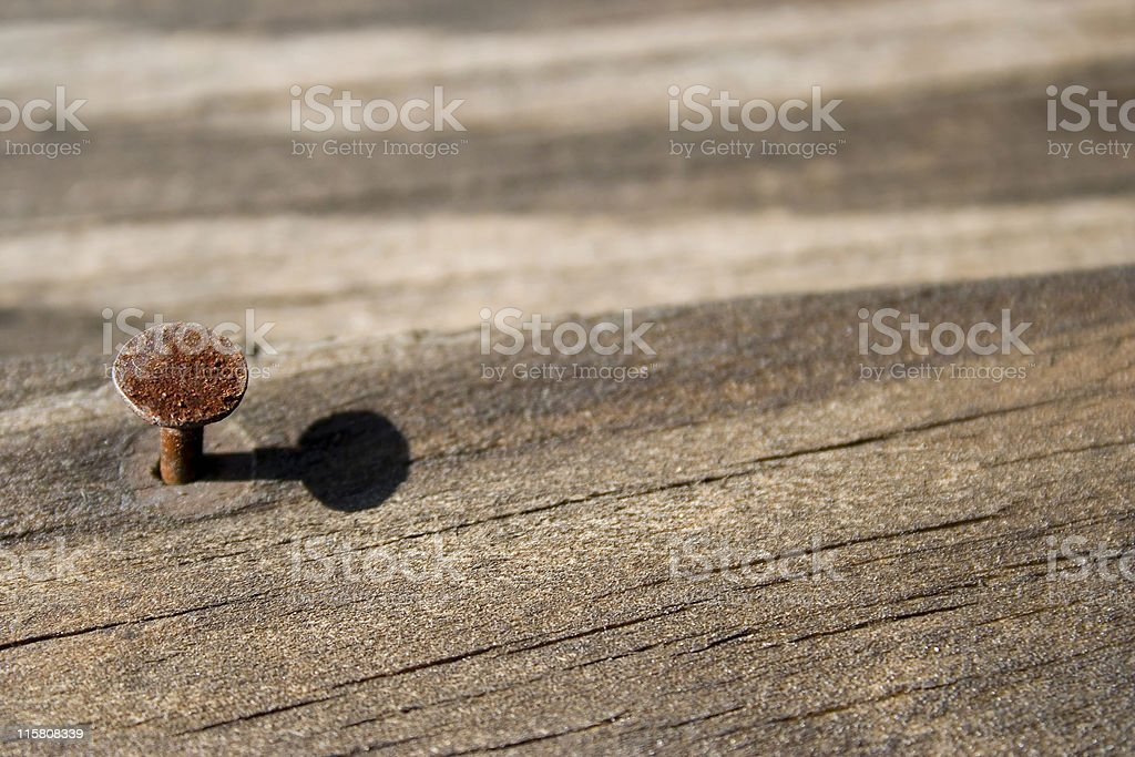 nail and shadow royalty-free stock photo