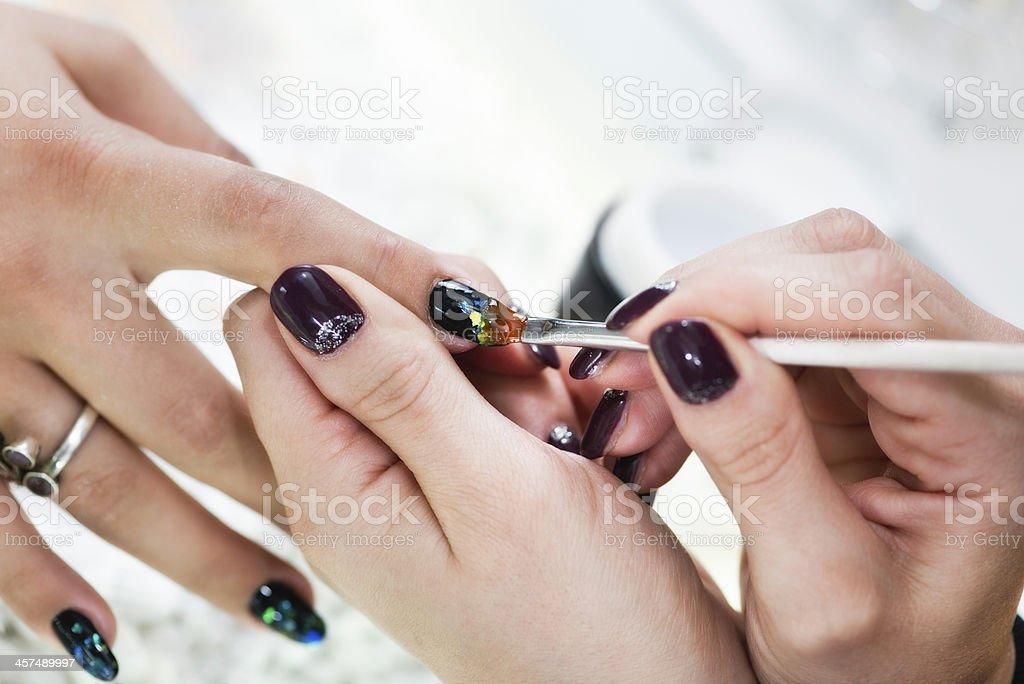 Nail art manicure stock photo