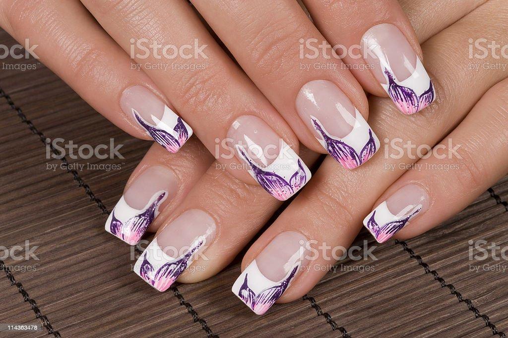 Nail art royalty-free stock photo