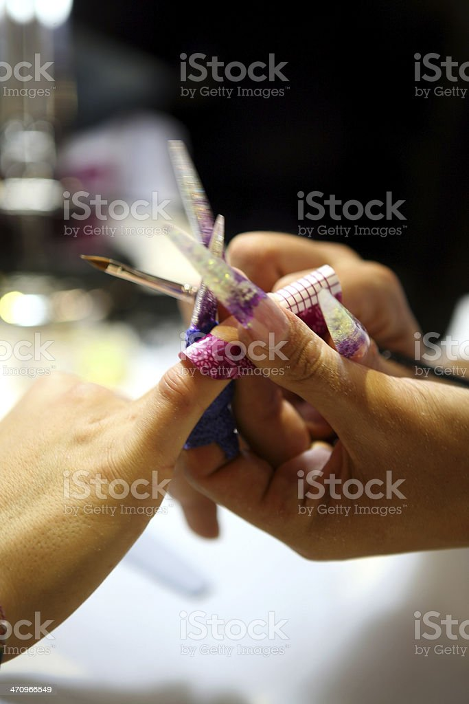 nail art stock photo