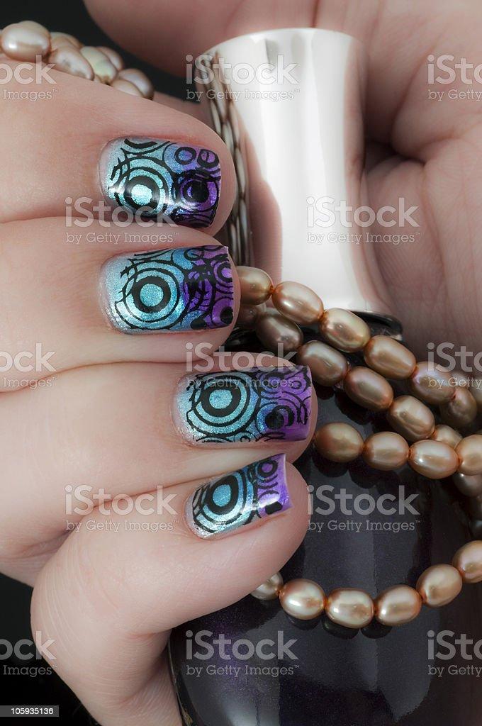 Nail Art - Wild Design stock photo