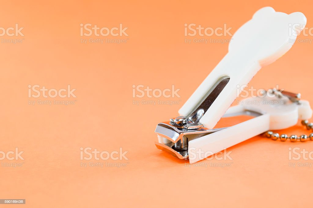 Nail clippers stock photo