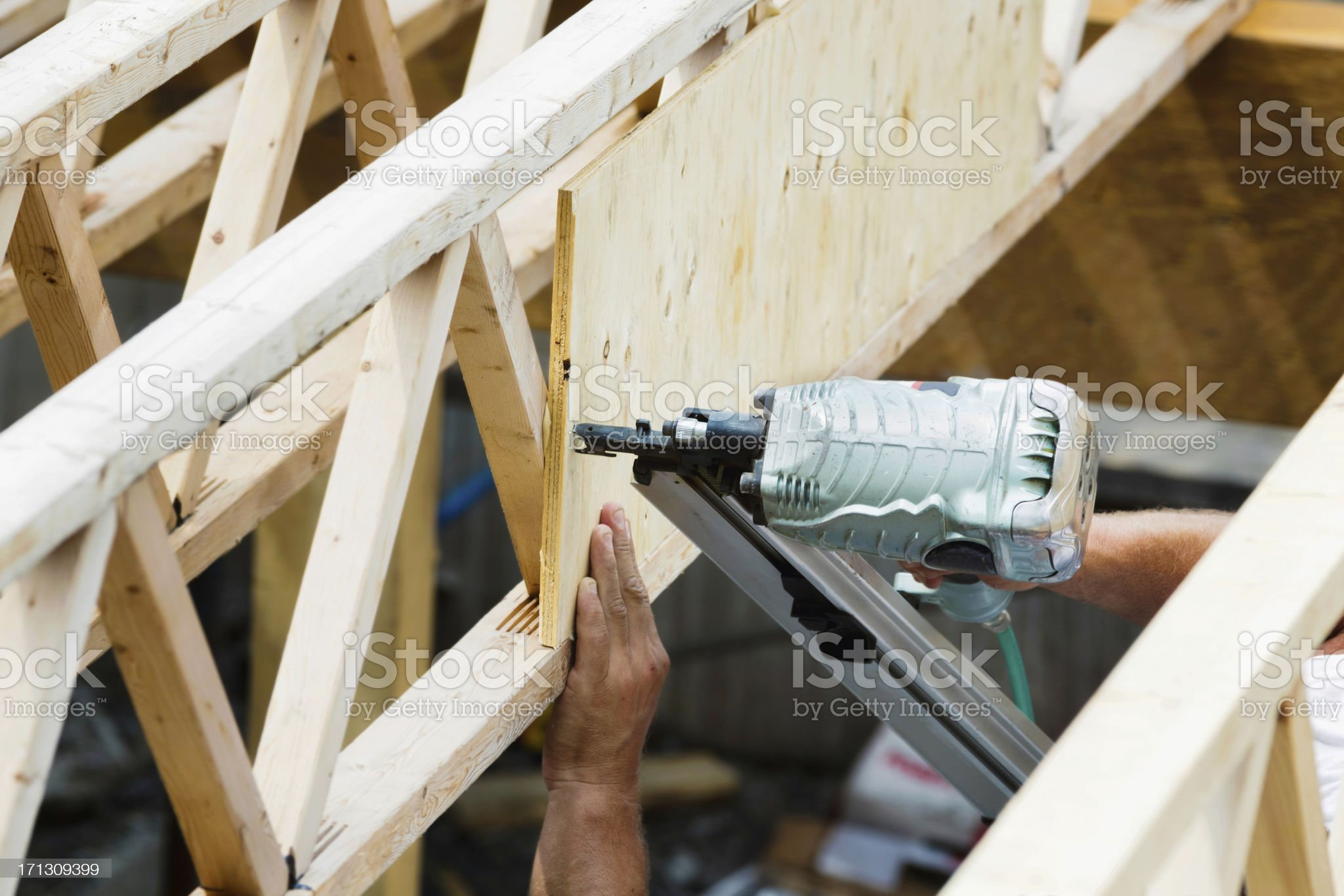 Nail Gun on construction site royalty-free stock photo