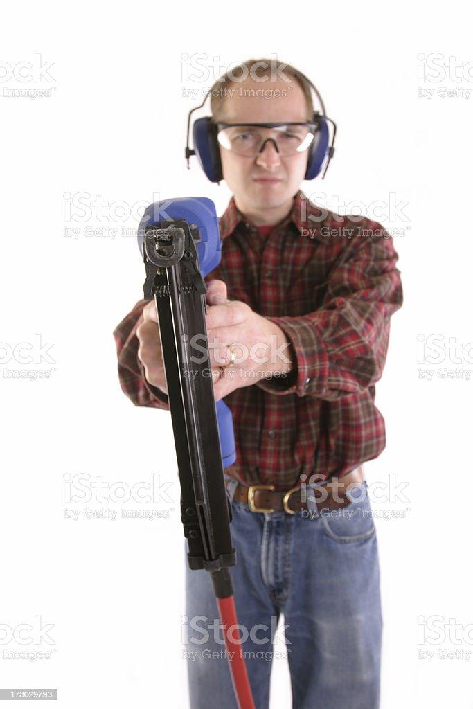 Nail Gun stock photo