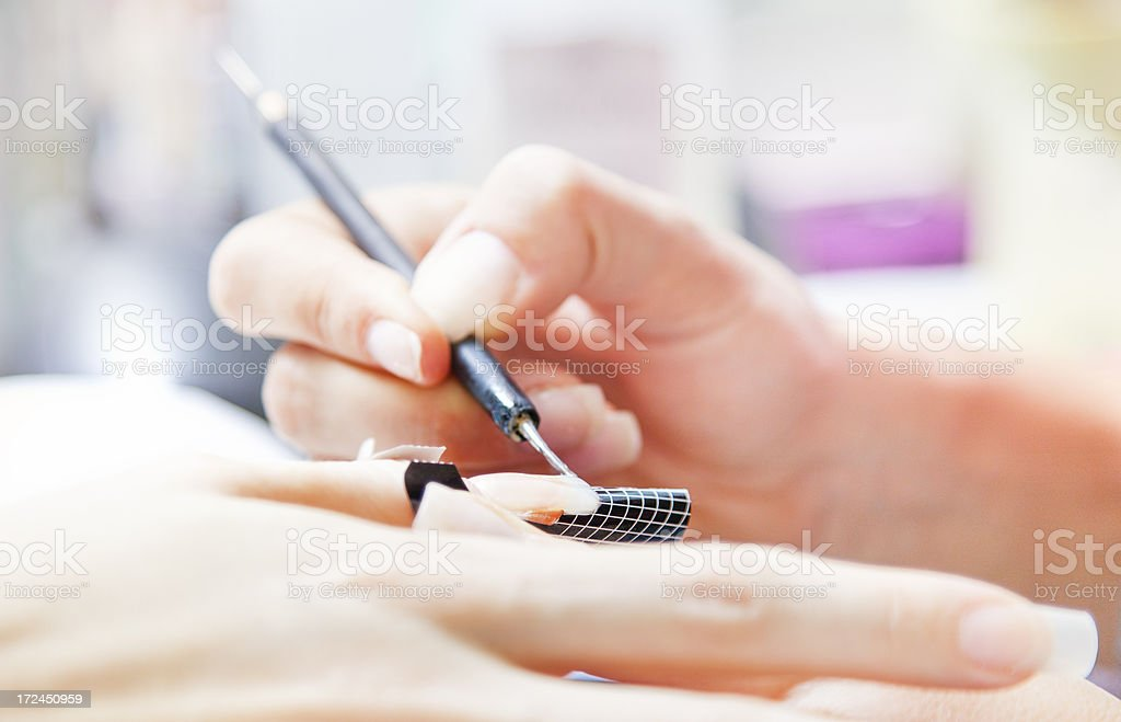 Nail manicure - gel nails royalty-free stock photo