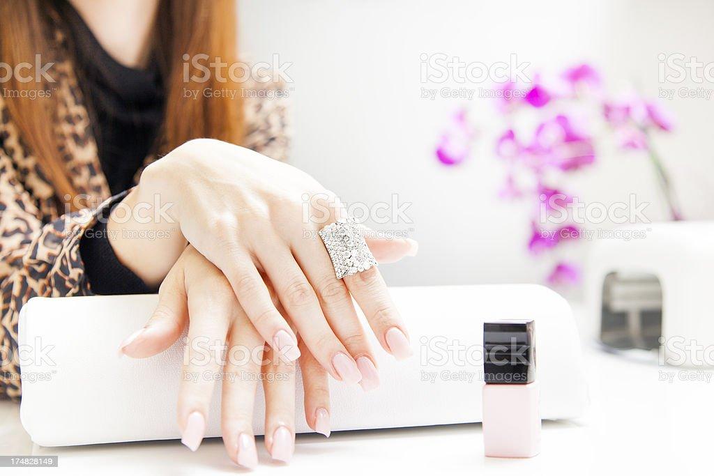 Nail manicure stock photo