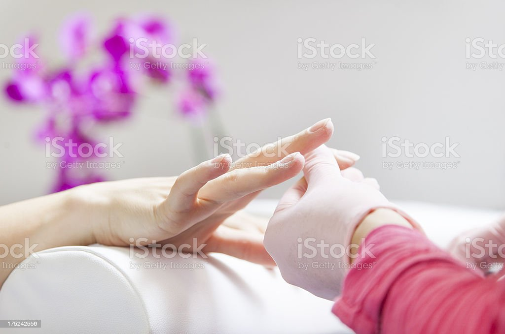Nail manicure royalty-free stock photo