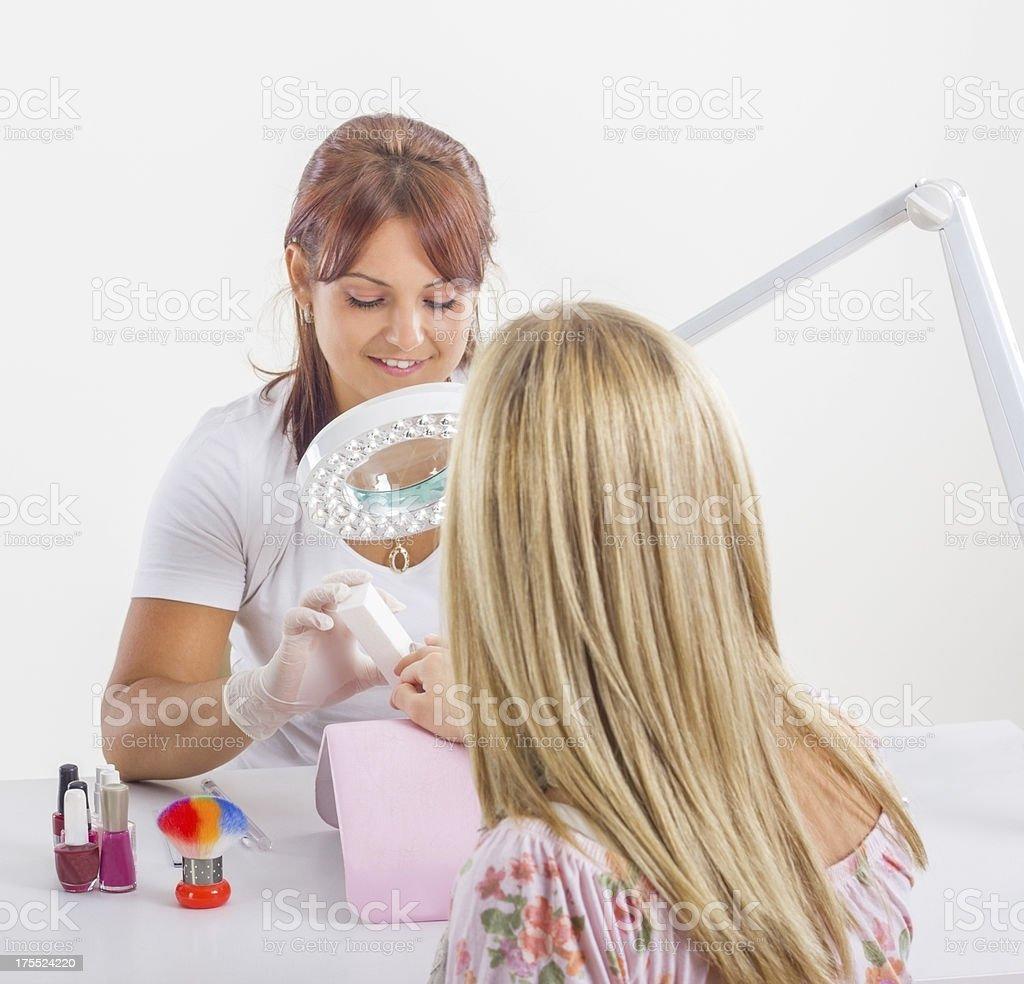 Nail manicure. stock photo
