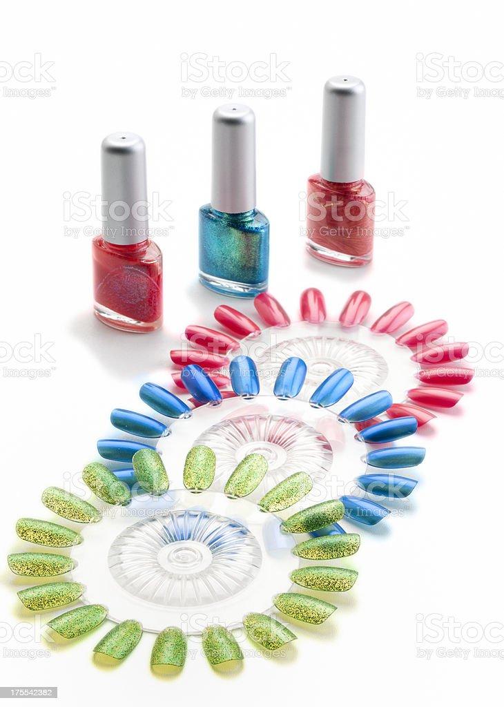 nail polish and color wheels royalty-free stock photo