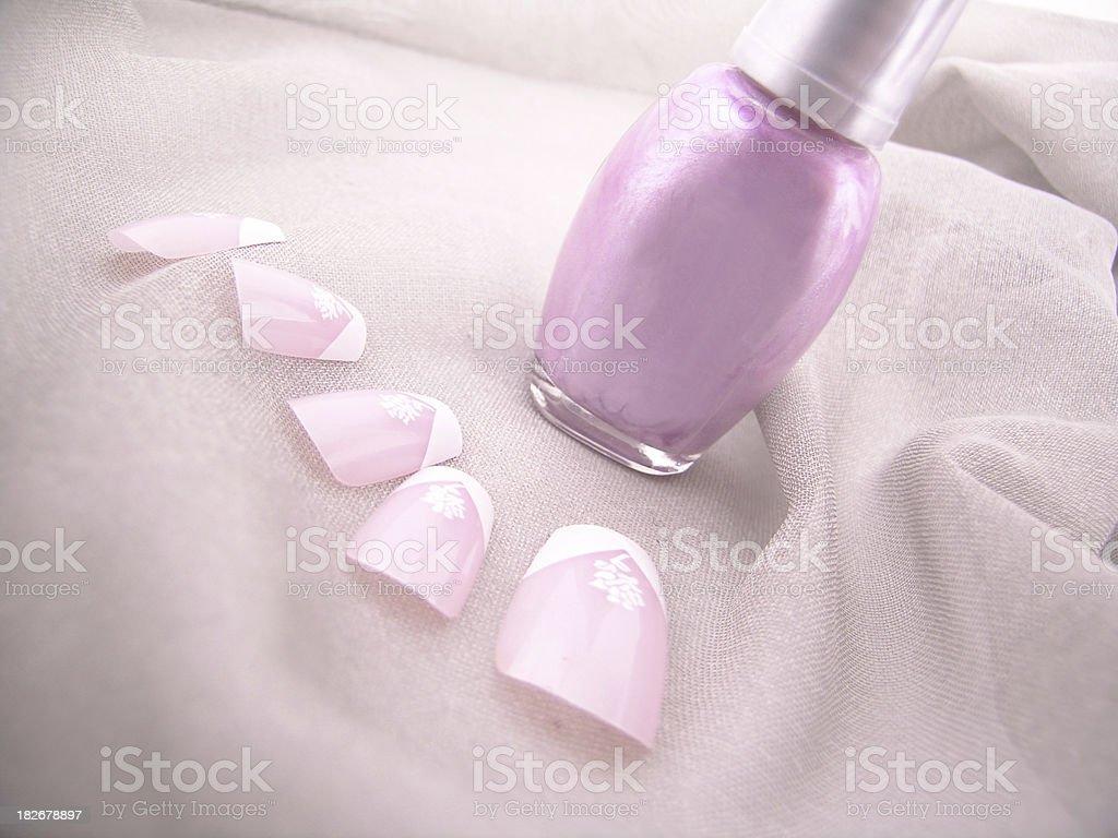 Nail polish & artificial nails stock photo