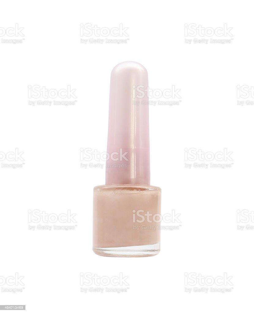 nail polish bottle on white background royalty-free stock photo