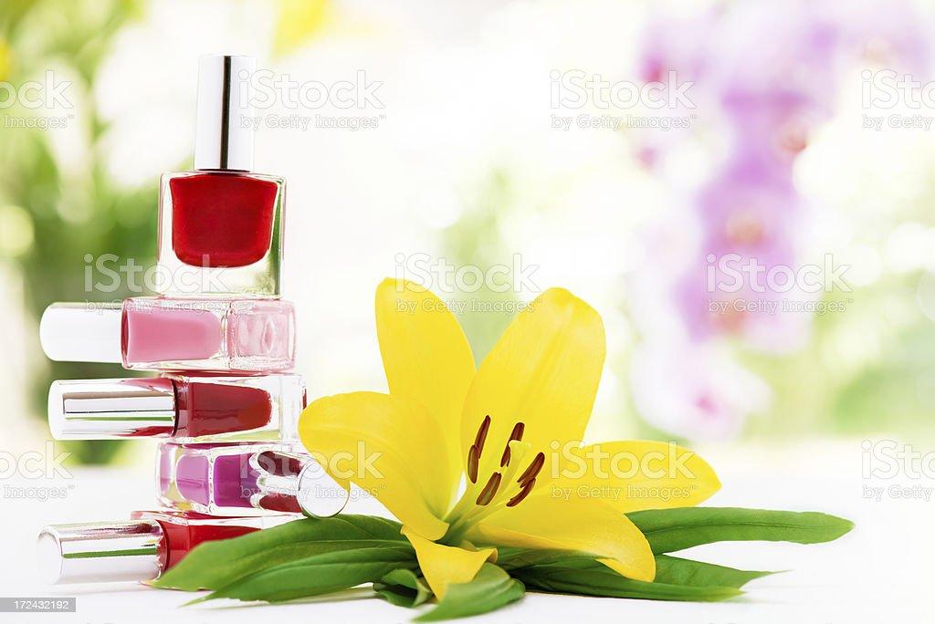 Nail polish bottles royalty-free stock photo