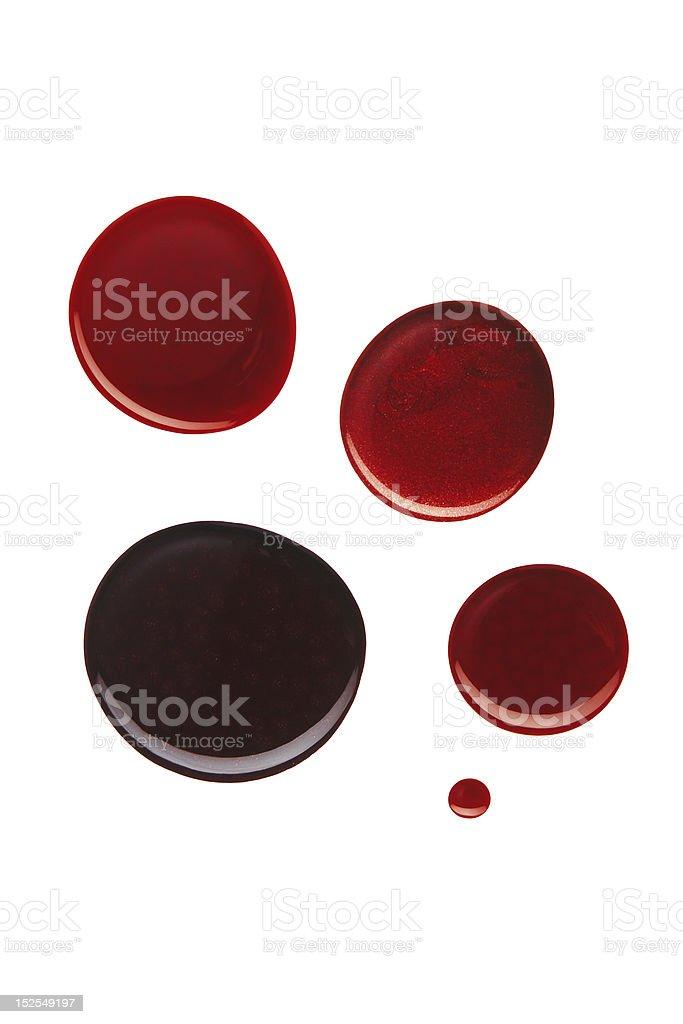 Nail Polish Dots royalty-free stock photo
