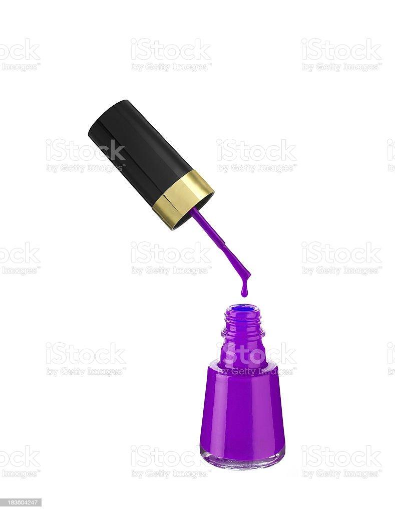 nail polish on white background royalty-free stock photo