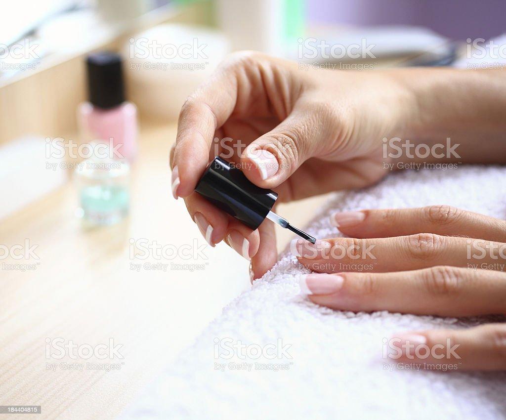 Nail polish. stock photo